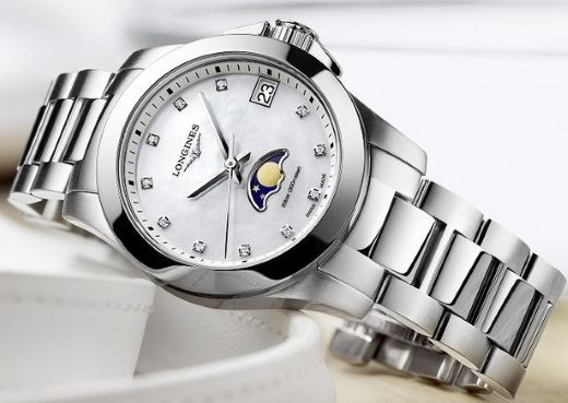 Женские часы Longines Conquest Moonphase Ladies